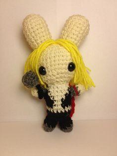 Thor Bunny with Hammer ~ Free Amigurumi Pattern