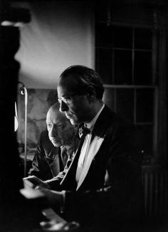 Henri Cartier-Bresson, Composers Vittorio Rieti and Igor Stravinski, New York City, USA, 1947