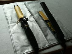 Tutorial : Travel Curling Iron Pouch that opens into a  heat-resistant mat.