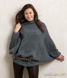 Пуловер – пончо спицами