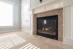 Custom fireplace in this Virginia Beach property.