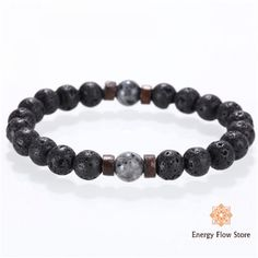 Stone bracelet, set your size with settings on this beaded bracelete for men or women. Made with Hematite metals Bracelets For Men, Fashion Bracelets, Force Et Courage, Beaded Jewelry, Beaded Bracelets, Charm Bracelets, Lava Bracelet, Bracelet Men, Stone Beads