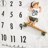 Baby Monthly Milestone Blanket™ 2-3 weeks handling time