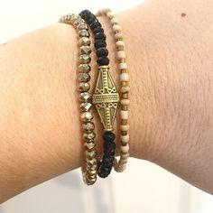 Egyptian Pyramid 3 Individual Beaded Bracelet Set Stretch | Etsy