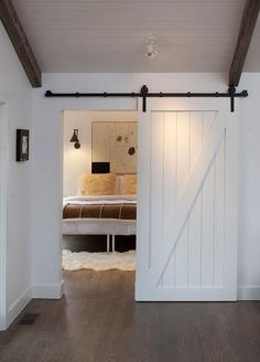 I would love a sliding door somewhere in our house--preferably vintage/recycled...maybe for the office?