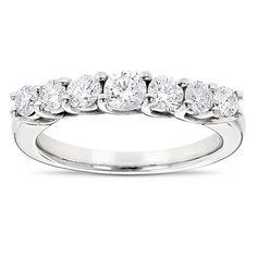 Luxurman 14k Gold 7/8ct TDW Diamond Band (G-H, SI1-SI2) (14k Rose Gold Size 7.5), Women's, Size: 4.5, White G-H