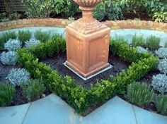 box hedge lined raised bed - Google Search