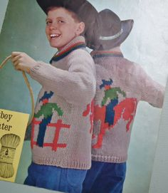 Vintage 1950s 1960s Knitting Pattern Boys by sewmuchfrippery