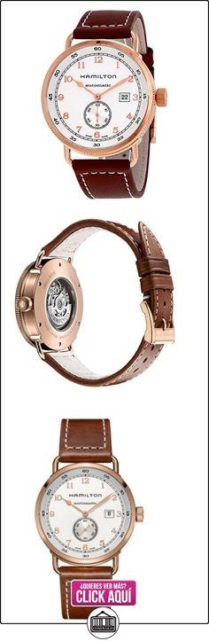 h77745553Hamilton Hombre Khaki Navy Auto Esfera Blanca Correa De Piel Color Marrón Nuevo  ✿ Relojes para hombre - (Lujo) ✿ ▬► Ver oferta: http://comprar.io/goto/B017ZBHJEG