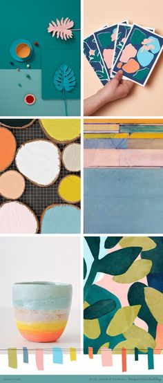 Ooh I think its time for a colour crush post...   Happy Monday!         (clockwise from top left)     1  | 2  | 3  | 4  | 5  | 6     x x x ... mood board and color palette