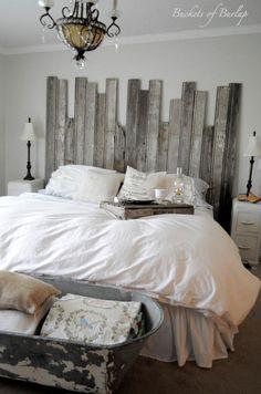 Fun, cozy farmhouse bedroom