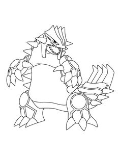 Ausmalbilder Pokemon Groudon