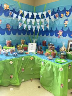 Candy Table. Bubble Guppies. First Birthday Party. First Birthday. Kids…