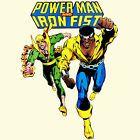 Power Man Iron Fist T-shirt retro Marvel superhero Luke Cage graphic printed tee