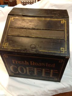"Vintage Early 1900's Tin ""Fresh Roasted Coffee"" General Store Counter Display!!"