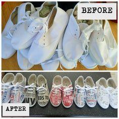 Before & After #tekkies #sonskynliefde #handmade #hellopretty #mooiloop
