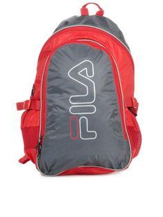 FILA Unisex Grey Backpack | Myntra via @myntra