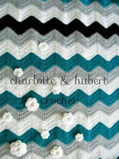Big Bold Chevrons Straight Blanket FREE Crochet Pattern
