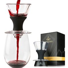 Redevino Luxury Wine Aerator Decanter set With Glass Stand Premium Gift *** Visit the image link more details.