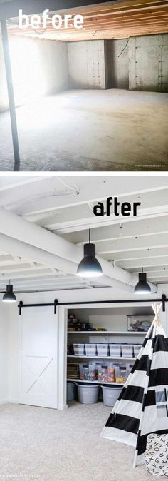 Best DIY Basement Ceiling Ideas & Designs For 2019 The basement isn't exactly the most exciting part of the house, but it remains an essential area that is more than a glorified storage area. Here are basement ceiling ideas worth considering. Basement Remodel Diy, Basement House, Basement Makeover, Basement Bedrooms, Basement Renovations, Basement Bathroom, Home Renovation, Basement Apartment, Basement Closet