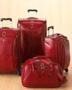 Crocodile-Embossed Softside Luggage