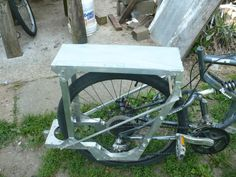 how to build a bike trailer out of wood