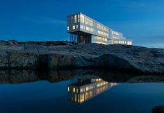 Fogo island Canada - Hotel Inn by Saunders Architecture Fogo Island Newfoundland, Newfoundland Canada, Newfoundland And Labrador, Beautiful Hotels, Beautiful Places, Amazing Hotels, Unique Hotels, Resorts, Lac Moraine