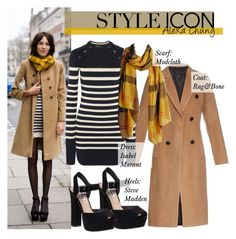 """Style Icon: Alexa Chung"" by simply-ashley ❤ liked on Polyvore featuring rag & bone, Steve Madden and Isabel Marant"