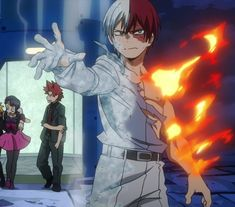 My Hero Academia Shouto, Hero Academia Characters, Anime Characters, Anime Demon Boy, Anime Guys, Otaku, Cute Wallpaper Backgrounds, Boku No Hero Academy, Awesome Anime