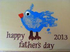 Happy Father's Day 2013 handprint bird