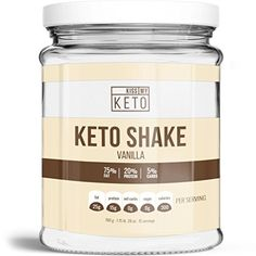 Kiss My Keto Vanilla Keto Shake Mix, 15 Servings, Low Carb High Fat, Meal Replacement, LCHF, ZERO Net Carbs, Maintain Perfect Macros on the Ketogenic Diet, Burn Fat, Increase Energy, and Enter Ketosis