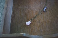 Delicate Pink Druzy Antiqued Brass Finish Necklace $29.00 <3 Pin now, check out later <3 loomstruck.etsy.com