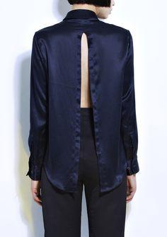 Charlie May_Navy Shirt Back_Bengt Fashion