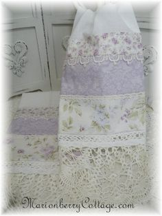 PAIR Guest towels shabby chic lavender roses with doily hems. Of course in lt. Shabby Chic Interiors, Shabby Chic Crafts, Shabby Chic Bedrooms, Shabby Chic Kitchen, Shabby Chic Homes, Shabby Chic Furniture, Shabby Chic Decor, Lavender Cottage, Lavender Roses