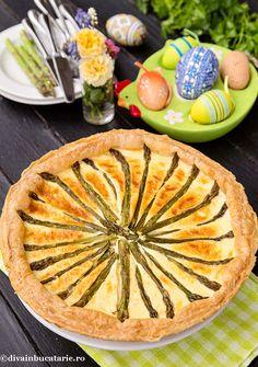 TARTA CU SPARANGHEL | Diva in bucatarie Apple Pie, Quiche, Appetizers, Breakfast, Desserts, Food, Pie, Eten, Morning Coffee