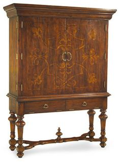 Reginelli Entertainment Cabinet was inspired by an antique cabinet found in a century villa in Northern Italy. This Italianate hand-planed and painted cabinet evokes old-world ambiance while cleverly hiding. Decor, Traditional Furniture, Furniture, Fine Furniture, Find Furniture, Painting Cabinets, Navy Bedroom Decor, John Richard Furniture, Condo Furniture