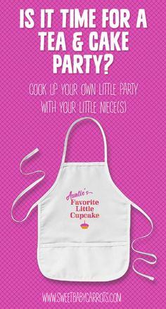Auntie and niece can cook up a tea party with a cute kid's apron by SweetBabyCarrots on Zazzle.