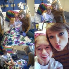 taylor visiting hospital patients today :) she's amazing