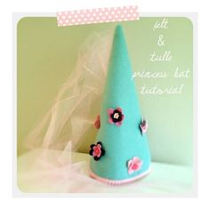 I love this little project. Its on my list of things I must make for my daughter's dress up box.  check out the tutorial here=  http://ahappynest.typepad.com/a-happy-nest/2012/01/felt-tulle-princess-hat-tutorial.html