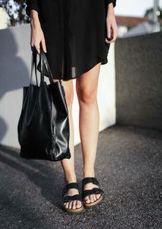black birkenstock arizona sandals
