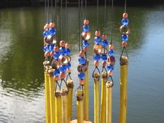 this website has bamboo wind chimes that people make, so it's something different all the time