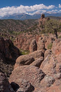 Browns Canyon east of Salida is one of Colorado's hidden gems, between its striking sandstone formations and gorgeous mountain vistas.