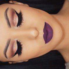 bronze + violet.