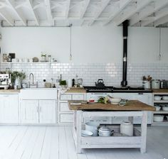 Kitchen Gallery at Astounding Rustic White Kitchen Cabinets Pics Design Ideas Home Kitchens, Kitchen Gallery, Kitchen Remodel, Kitchen Design, Kitchen Inspirations, Country Kitchen, New Kitchen, White Kitchen Rustic, Scandinavian Kitchen Design