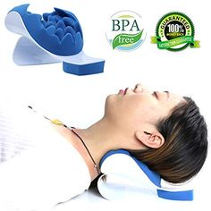 REARAND Neck and Shoulder Relaxer Neck Pain Relief and Neck Support Shoulder Relaxer Massage Traction Pillow Chiropractic Pillow for Pain Relief Management and Cervical Spine Alignment Neck Stretch Neck Pain Relief, Natural Pain Relief, Spine Alignment, Makeup Eraser, Stiff Neck, Natural Sleep Aids, Adaptive Equipment, Neck Stretches, Relaxer