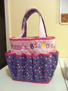 A bingo bag I made and embroidered! Bag Pattern Free, Bag Patterns To Sew 12ba300c25