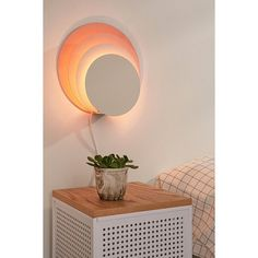 Circle Sconce ($119) ❤ liked on Polyvore featuring home, lighting, wall lights, pink lamp, plug in sconce, urban outfitters lighting, plug in lights and urban outfitters
