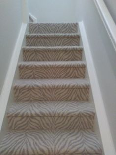 Here Is A Staircase We Just Carpeted For Surfside Contracting In Wellington Fl The Carpeting From Stanton It Called Talia Color Breaker White