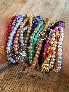 colorful bracelets Bangles, Beaded Bracelets, Colorful Bracelets, Jewelry, Fashion, Bracelets, Moda, Jewlery, Jewerly