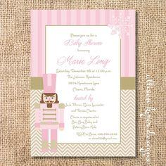 Light Pink Nutcracker Printable Invitation by AllisonKizerDesigns